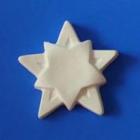 Гипсовый элемент, Звезда (двойная), 5*5*1см
