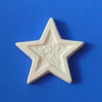 Гипсовый элемент, Звезда , 5*5*0,6см