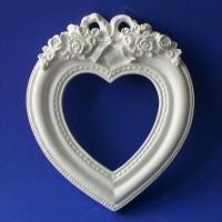 Гипсовая рамка Сердце, 13,5*11,5*1,5см