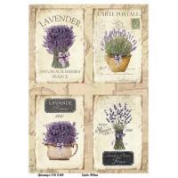 Бумага декупажная, Винтажные цветы, Alizarin, 20х30см, 9013001