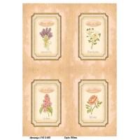 Бумага для декупажа Alizarin 20х30см Винтажные цветы 9013002