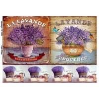 Бумага для декупажа Alizarin 20х30см Винтажные цветы 9013003