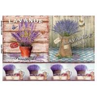 Бумага декупажная, Винтажные цветы, Alizarin, 20х30см, 9013004