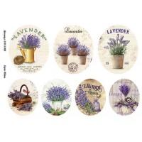 Бумага декупажная, Винтажные цветы, Alizarin, 20х30см, 9013005