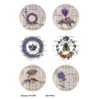 Бумага декупажная, Винтажные цветы, Alizarin, 20х30см, 9013006