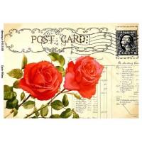 Бумага для декупажа Alizarin 20х30см Винтажные цветы 9013039