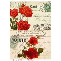 Бумага для декупажа Alizarin 20х30см Винтажные цветы 9013041