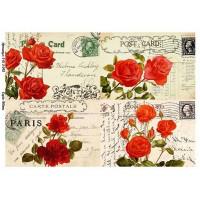 Бумага для декупажа Alizarin 20х30см Винтажные цветы 9013043
