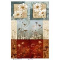 Бумага для декупажа Alizarin 20х30см Винтажные цветы 9013045