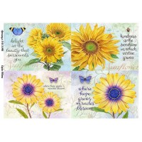 Бумага для декупажа Alizarin 20х30см Винтажные цветы 9013048