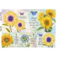 Бумага для декупажа Alizarin 20х30см Винтажные цветы 9013050