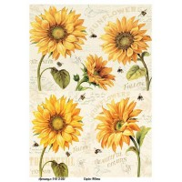 Бумага для декупажа Alizarin 20х30см Винтажные цветы 9013051