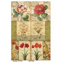 Бумага для декупажа Alizarin 20х30см Винтажные цветы 9013055