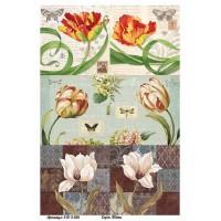 Бумага для декупажа Alizarin 20х30см Винтажные цветы 9013056