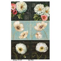 Бумага для декупажа Alizarin 20х30см Винтажные цветы 9013057