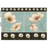 Бумага для декупажа Alizarin 20х30см Винтажные цветы 9013061