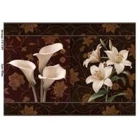 Бумага для декупажа Alizarin 20х30см Винтажные цветы 9013064