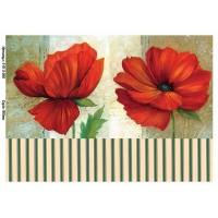 Бумага для декупажа Alizarin 20х30см Винтажные цветы 9013066