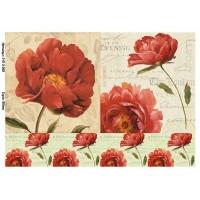 Бумага для декупажа Alizarin 20х30см Винтажные цветы 9013068