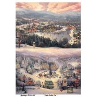 Бумага декупажная, Новый Год, Alizarin, 20х30см, 9255007