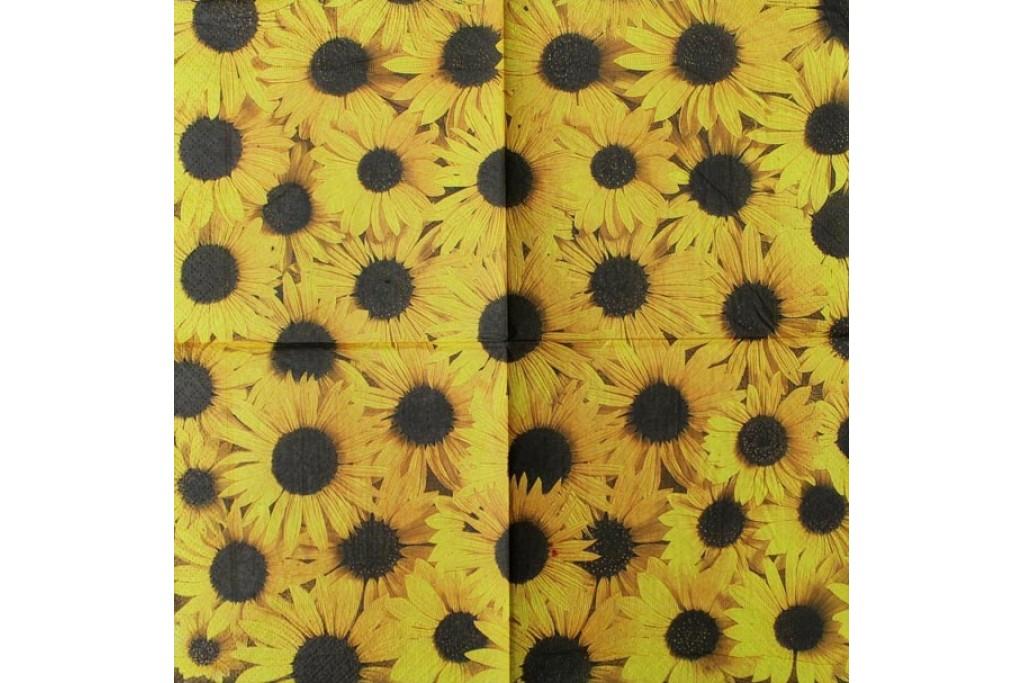 Салфетка для декупажа Цветы и растения 33х33 см 0564