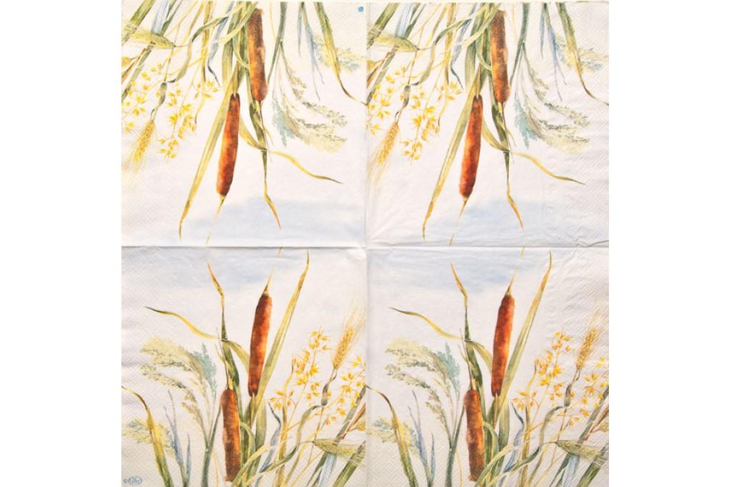 Салфетка для декупажа Цветы и растения 33х33 см 0013