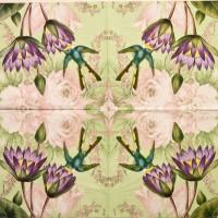 Салфетка для декупажа Цветы и растения 33х33 см 0246