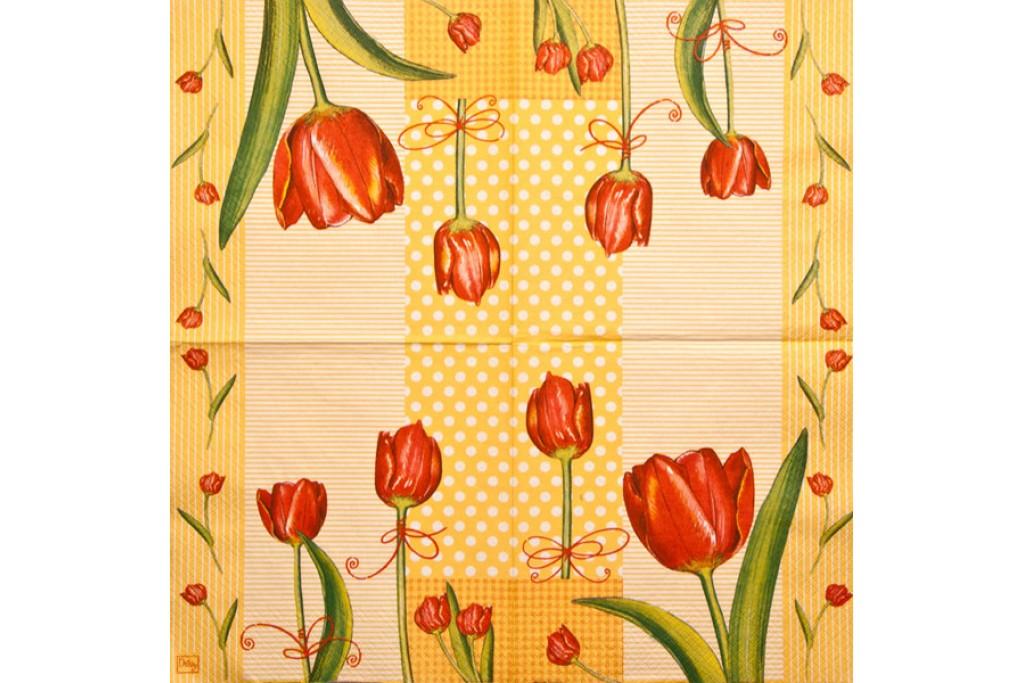 Салфетка для декупажа Цветы и растения 33х33 см 0275