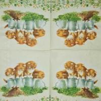 Салфетка декупажная, Животные и птицы, 33х33 см, 0630