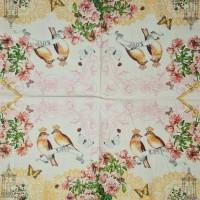 Салфетка декупажная, Животные и птицы, 33х33 см, 0637