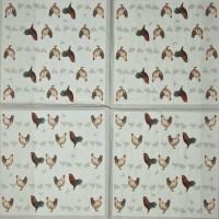 Салфетка декупажная, Животные и птицы, 33х33 см, 0641