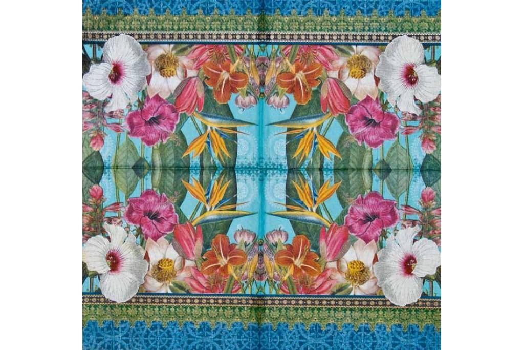 Салфетка для декупажа Цветы и растения 33х33 см 0711