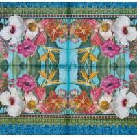 Салфетка декупажная, Цветы и растения, 33х33 см, 0711