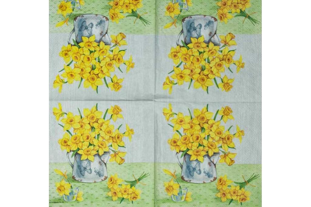Салфетка для декупажа Цветы и растения 33х33 см 0716