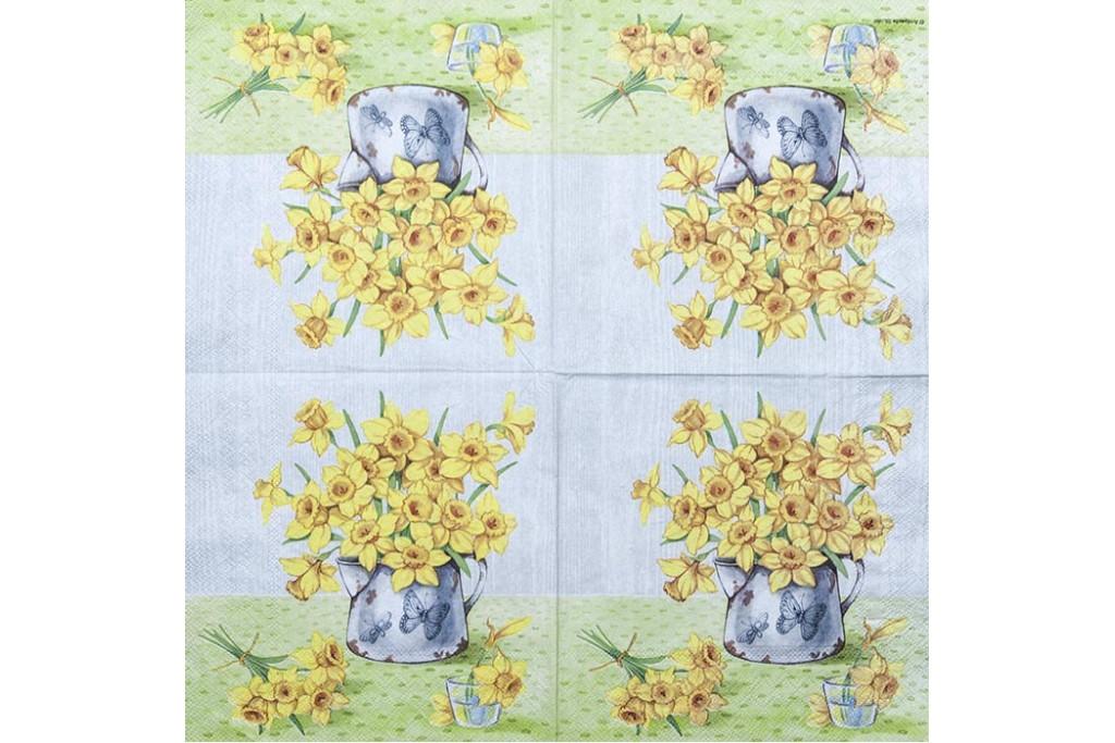 Салфетка для декупажа Цветы и растения 33х33 см 0859