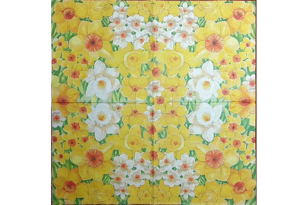 Салфетка для декупажа Цветы и растения 33х33 см 0916