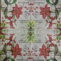 Салфетка декупажная, Цветы и растения, 33х33 см, 0932