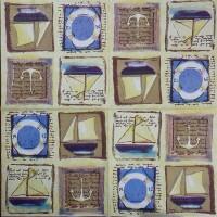 Салфетка для декупажа Путешествия 33х33 см 0940