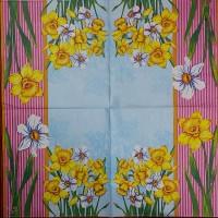 Салфетка декупажная, Цветы и растения, 33х33 см, 0969