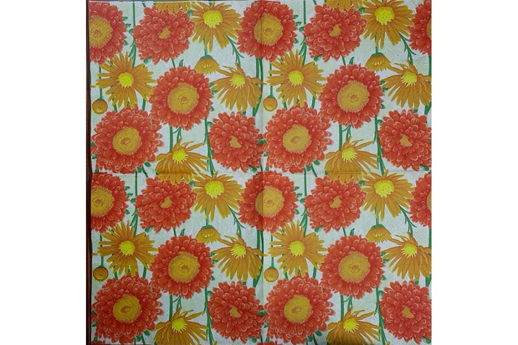 Салфетка для декупажа Цветы и растения 33х33 см 0970