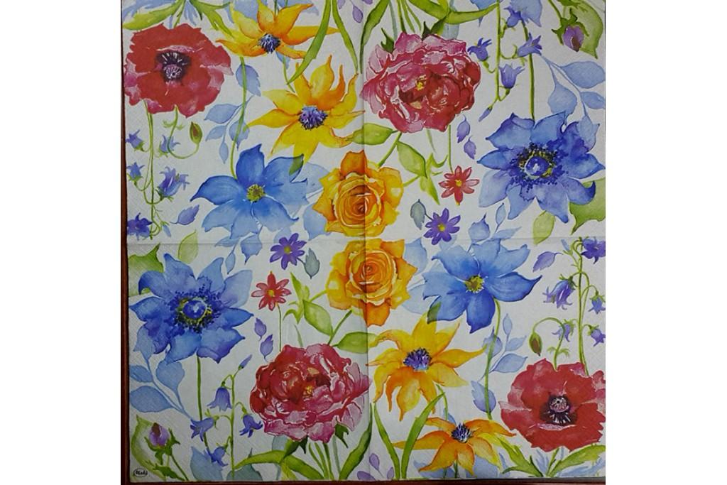 Салфетка для декупажа Цветы и растения 33х33 см 0973