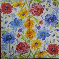 Салфетка декупажная, Цветы и растения, 33х33 см, 0973