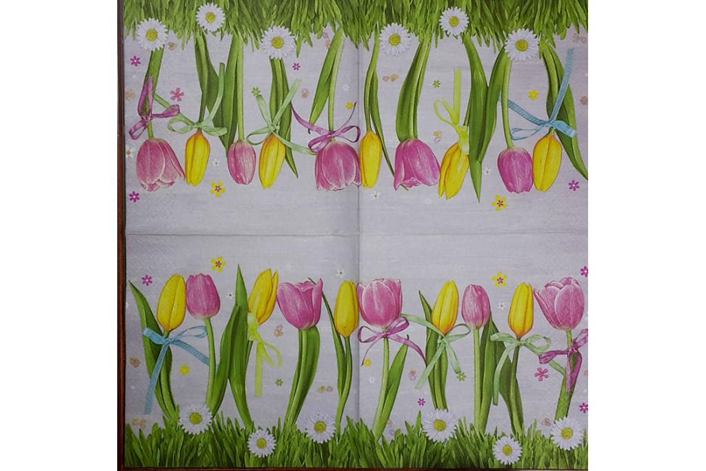Салфетка для декупажа Цветы и растения 33х33 см 0977