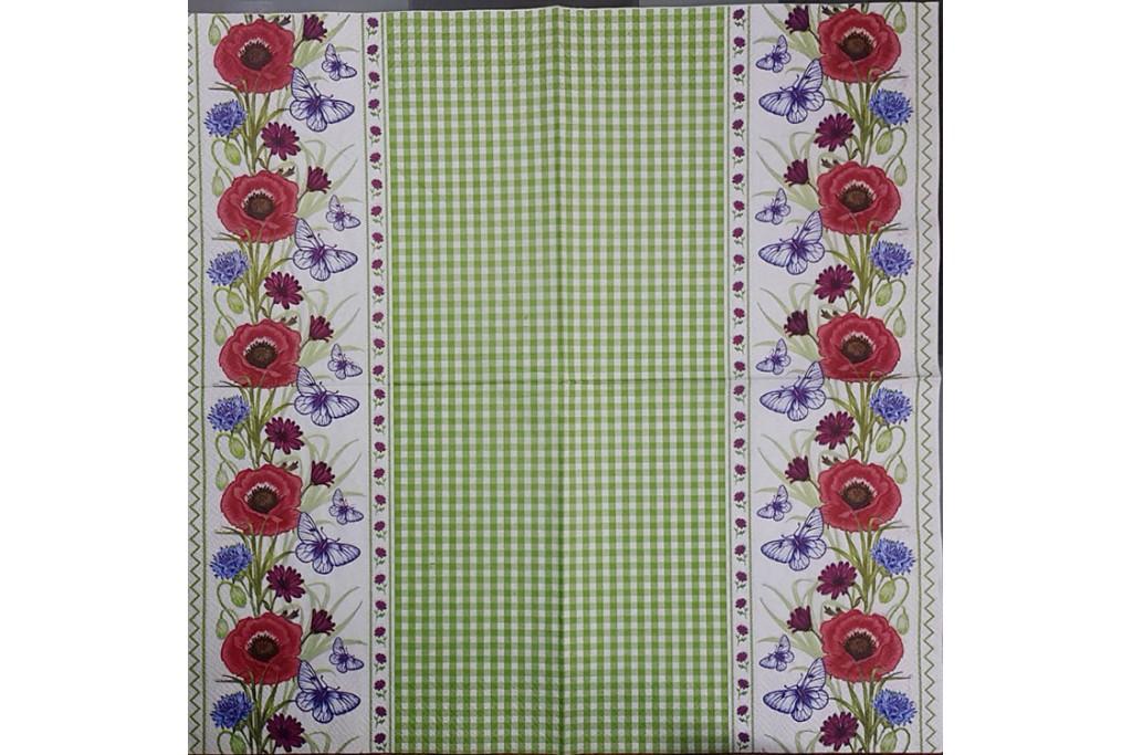 Салфетка для декупажа Цветы и растения 33х33 см 0979