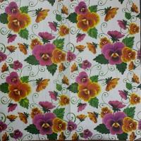 Салфетка для декупажа Цветы и растения 33х33 см 0982