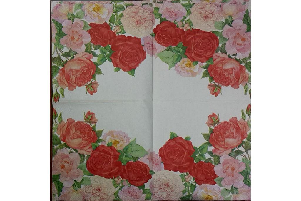 Салфетка для декупажа Цветы и растения 33х33 см 0984