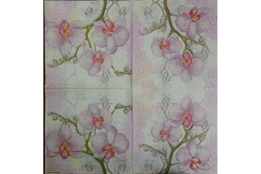 Салфетка для декупажа Цветы и растения 33х33 см 0989