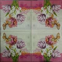 Салфетка для декупажа Цветы и растения 33х33 см 0997