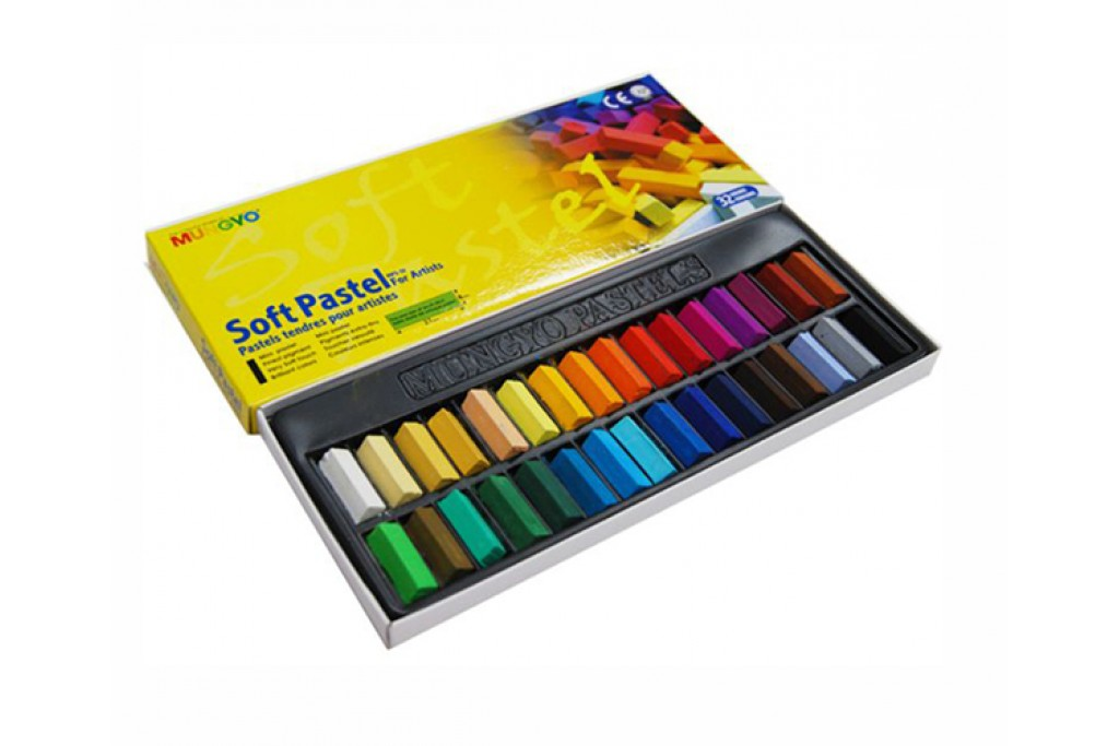 Набор сухой пастели Mungyo MPS-32 1/2 мягкая 32 цвета