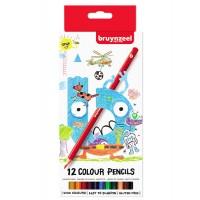 Набор детских цветных карандашей Bruynzeel 12цв картон